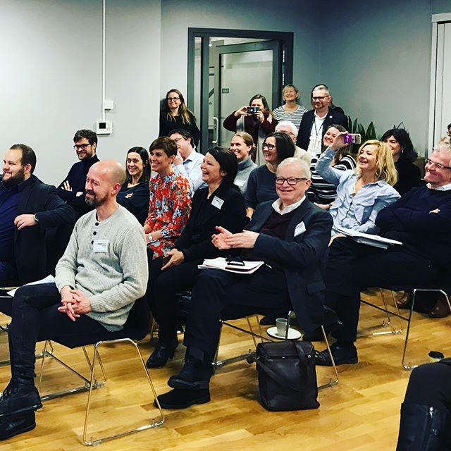 Det første besøket @trinesg gjorde som kulturminister var å stikke innom @norskpresseforbund sitt arrangement #medieåret2017 der PFU-statistikken b...