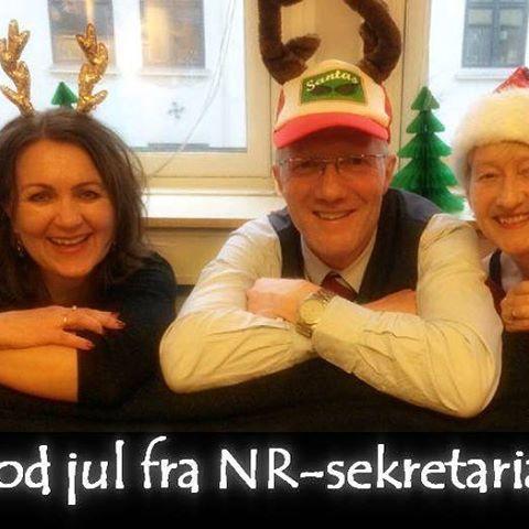 Fra oss tre i NR-sekretariatet til alle dere: Goooood jul