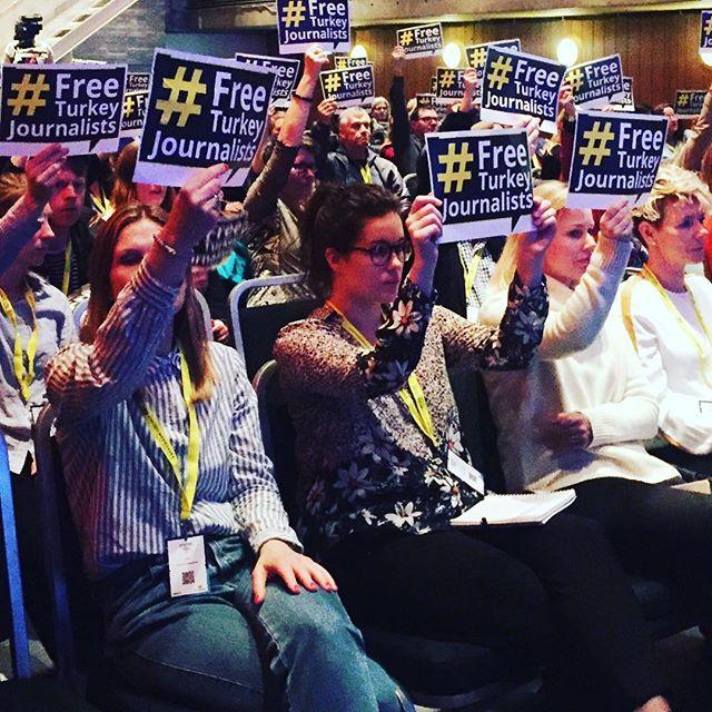 #freeturkeyjournalists #pressefrihetensdag markert på #nmd18
