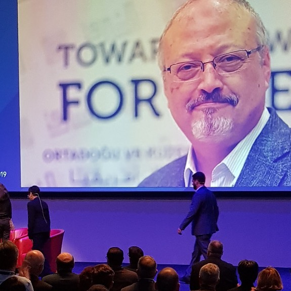 Golden Pen of Freedom 2019 ble tildelt Jamal Khashoggi på World News Media Conference i Glasgow denne helga. Så fortjent!
