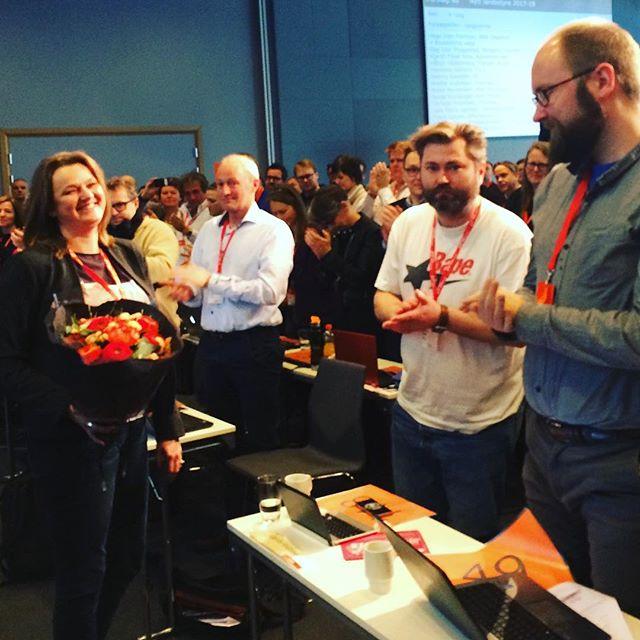 Gratulerer @hegeirenf som ny leder i @norskjournalistlag