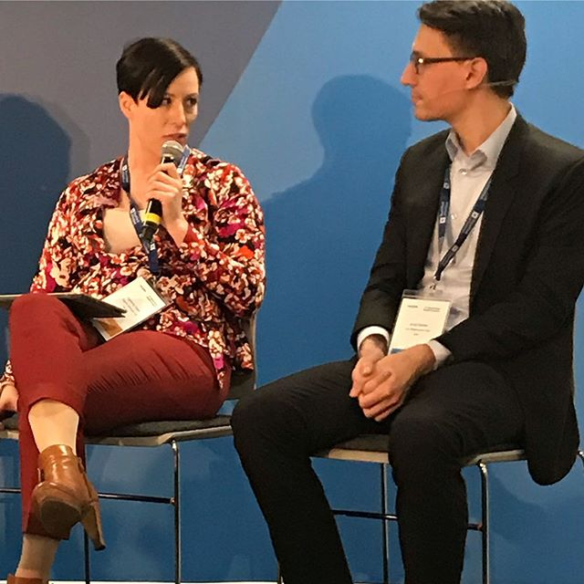 @ivolan in conversation with @gjbarb about next generation of newsrooms - World News Media Congress #wnmc19 #glasgow #redaktørliv #worldeditorsforu...