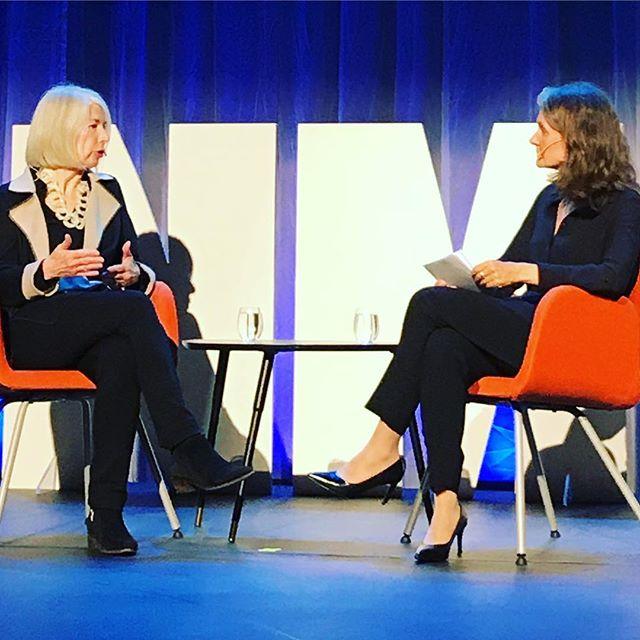 NYT-redaktør Rebecca Corbett ledet arbeidet som felte Harvey Weinstein. Full sal på #nmd18 når @hanne.b.skartveit intervjuer henne. #metoo #medieda...