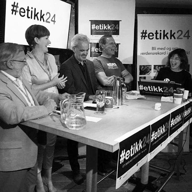 Presseetikk på ramme alvor - not. Oppsummeringen av partilederdebatten var visstnok bedre enn selve debatten - #etikk24 @staalmannen1 @vesleost @ei...