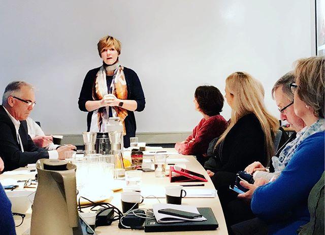Tidligere SSB-sjef Christine Meyer snakker om medietrøkken på styremøtet til @norskpresseforbund #redaktørliv #ssb #ledelse